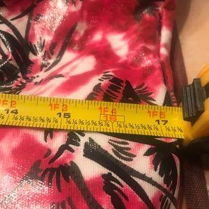Betsey Johnson Bags - Betsey Johnson pink palm 🌴tree tote